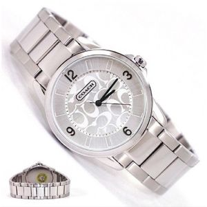 Authentic COACH Classic Signature Silver Watch